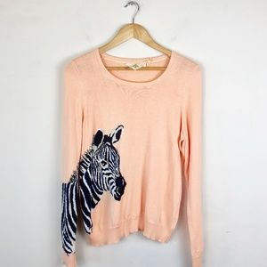 Monogram Anthropologie Zebra Sweater
